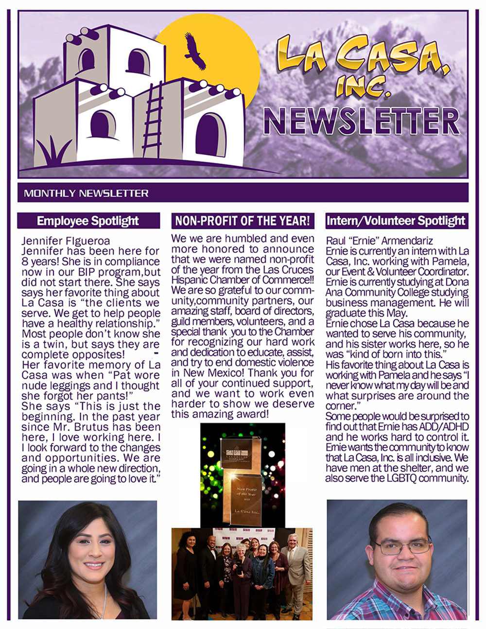 La Casa Inc April 2019 Newsletter